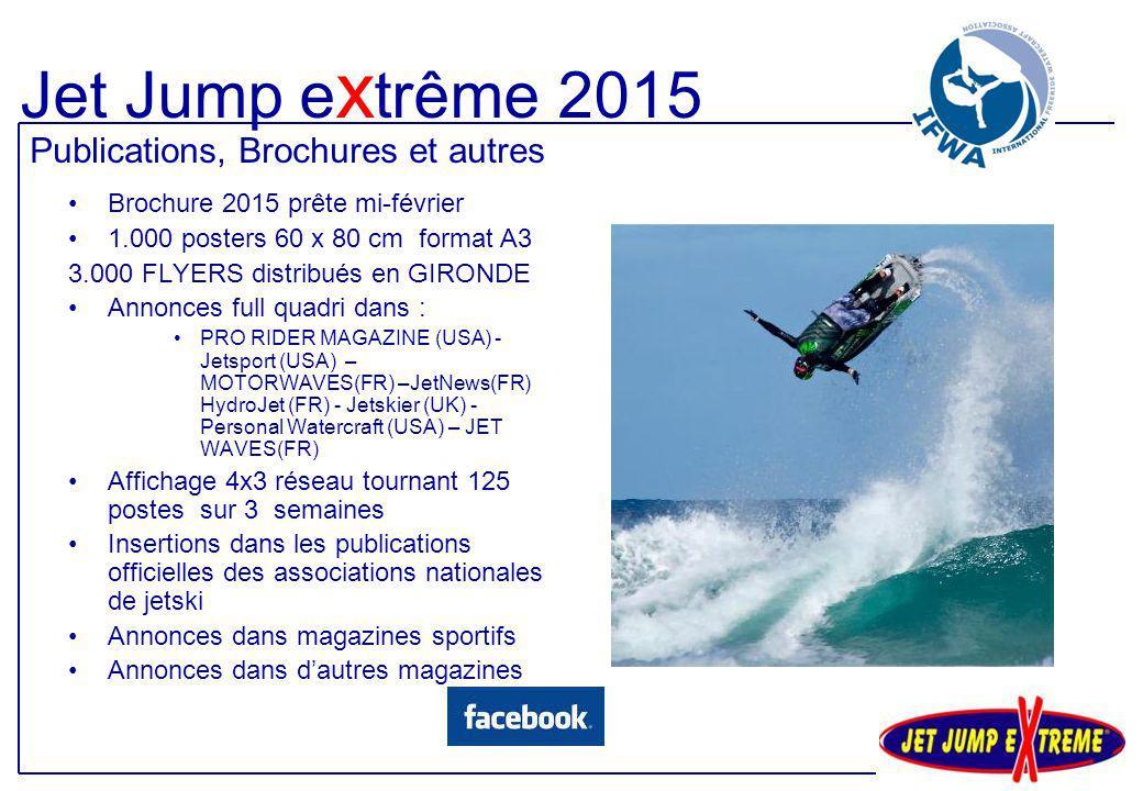 Jet Jump extrême 2015 Publications, Brochures et autres