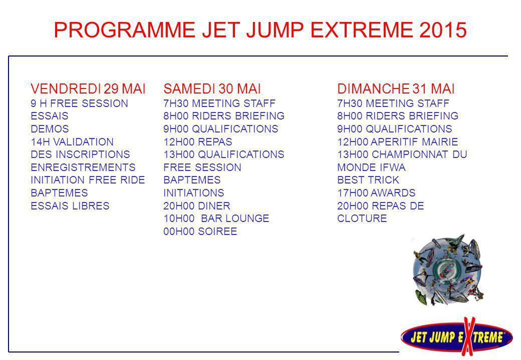 PROGRAMME JET JUMP EXTREME 2015