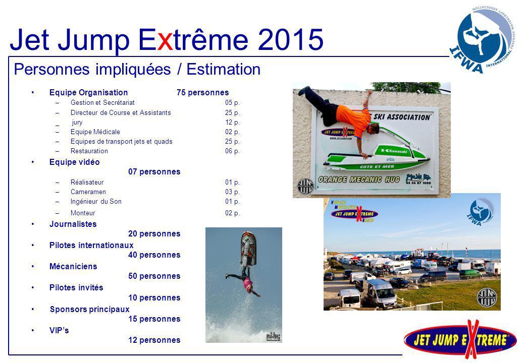 Jet Jump Extrême 2015 Personnes impliquées / Estimation