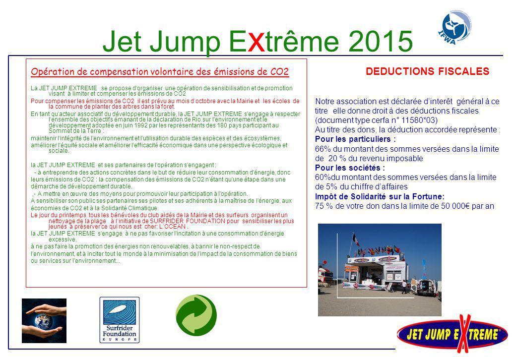 Jet Jump Extrême 2015 Opération de compensation volontaire des émissions de CO2.