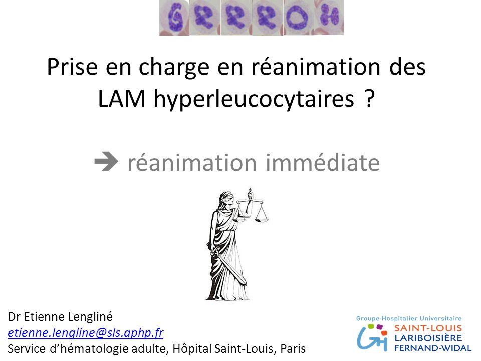 Prise en charge en réanimation des LAM hyperleucocytaires