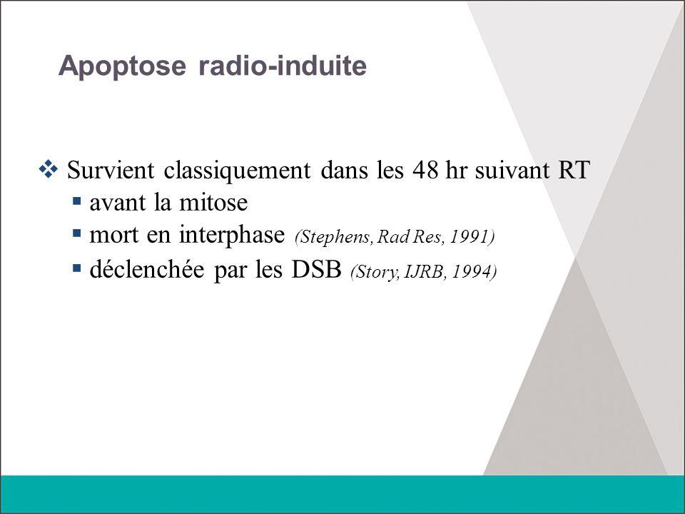 Apoptose radio-induite