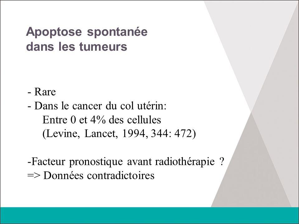 Apoptose spontanée dans les tumeurs