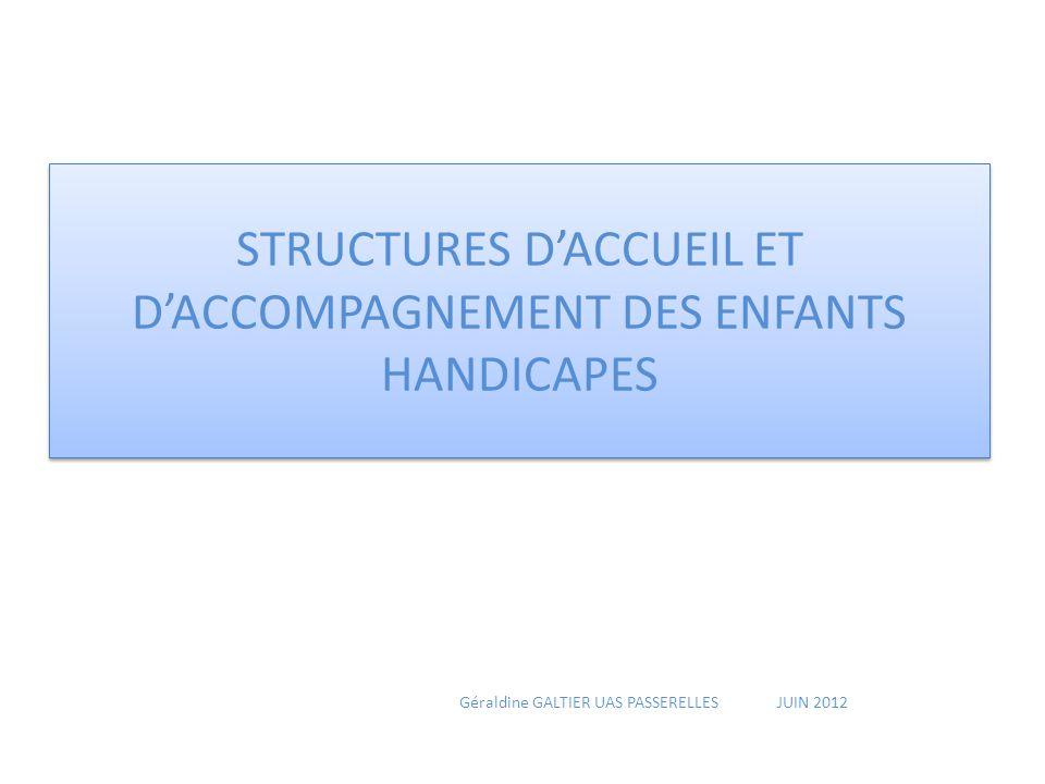 STRUCTURES D'ACCUEIL ET D'ACCOMPAGNEMENT DES ENFANTS HANDICAPES