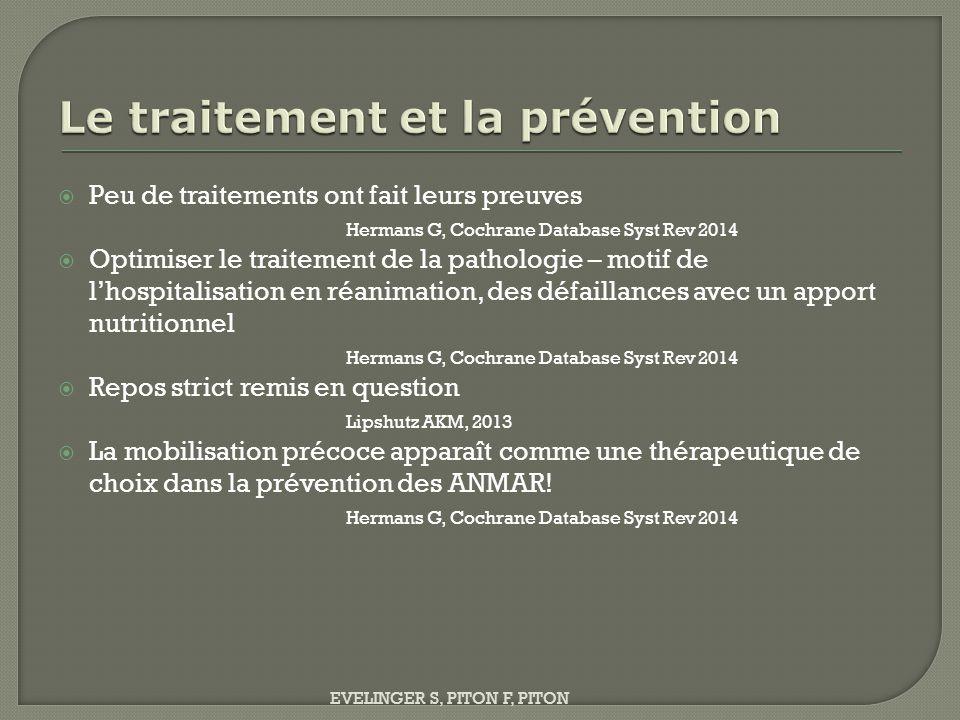 Le traitement et la prévention