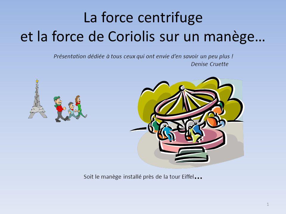 La force centrifuge et la force de Coriolis sur un manège…
