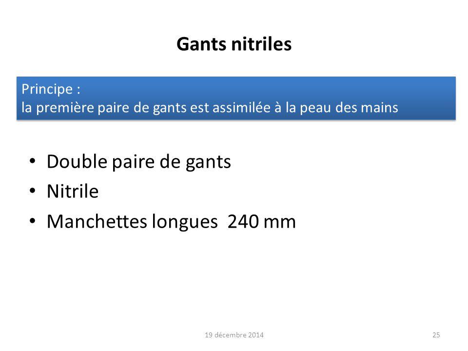 Gants nitriles Double paire de gants Nitrile Manchettes longues 240 mm