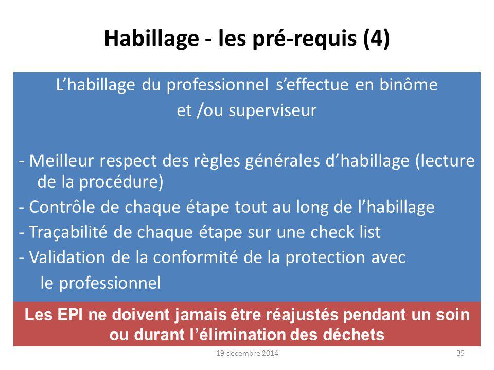 Habillage - les pré-requis (4)