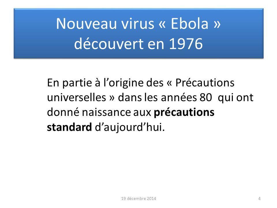 Nouveau virus « Ebola » découvert en 1976