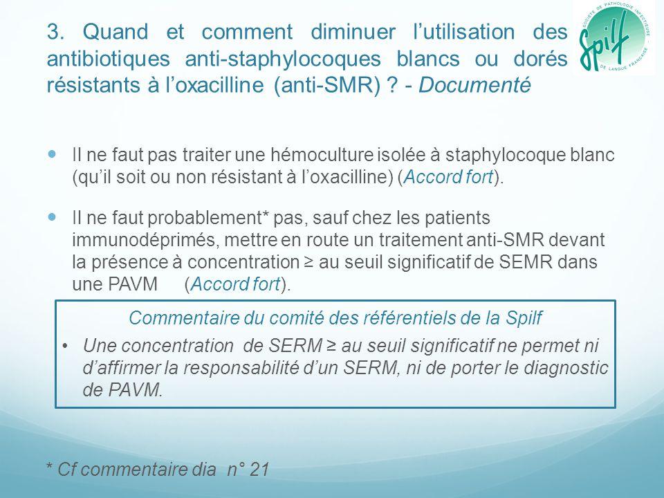 Commentaire du comité des référentiels de la Spilf