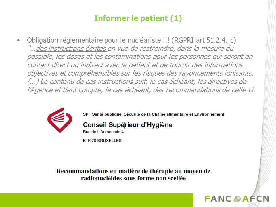 Informer le patient (1)