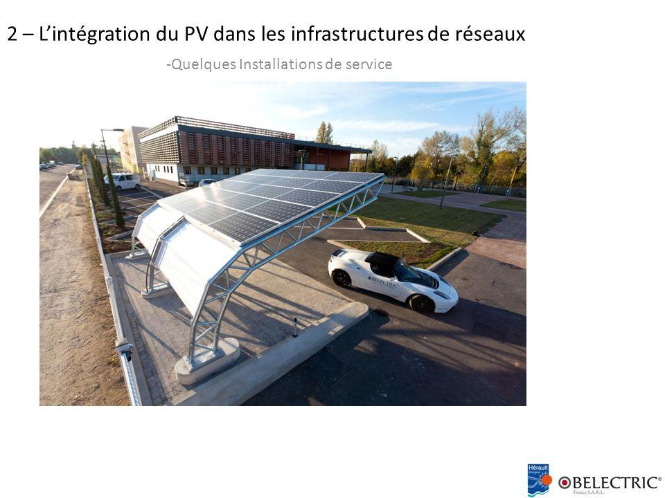 2 – L'intégration du PV dans les infrastructures de réseaux