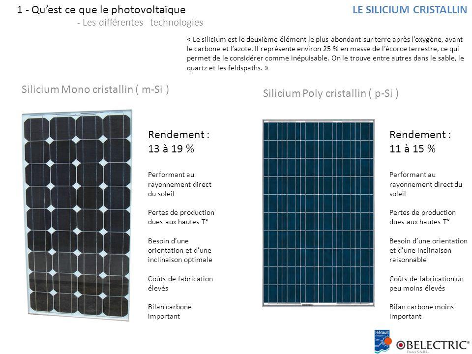 1 - Qu'est ce que le photovoltaïque