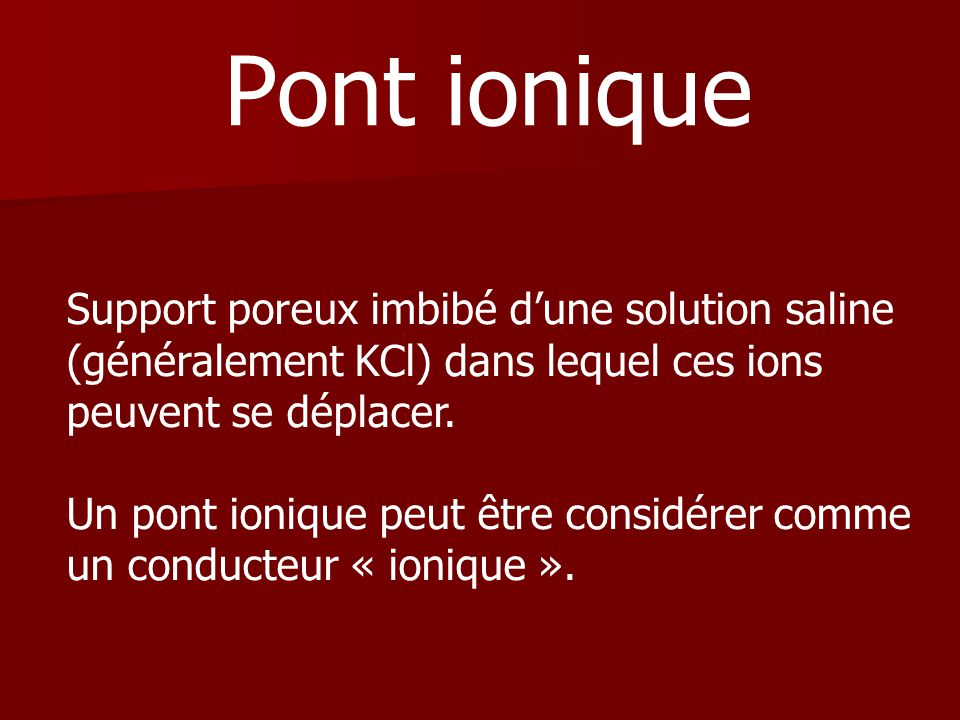 Pont ionique