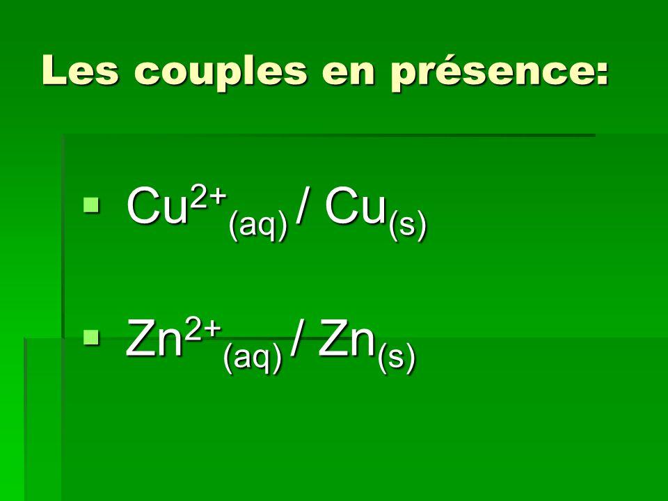Les couples en présence: