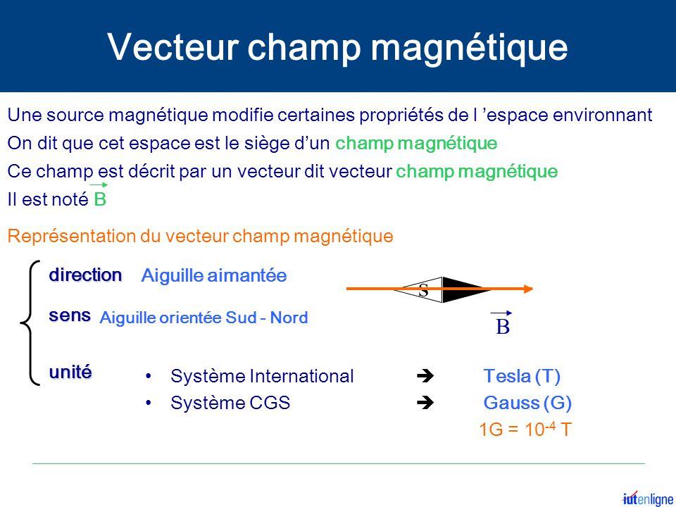 Vecteur champ magnétique