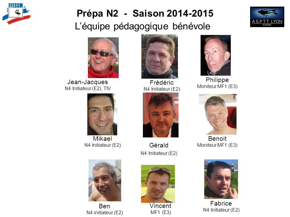 N2 N2 N2 Prépa N2 - Saison 2014-2015 L'équipe pédagogique bénévole