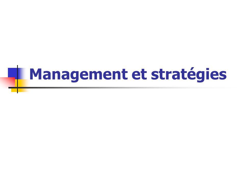 Management et stratégies