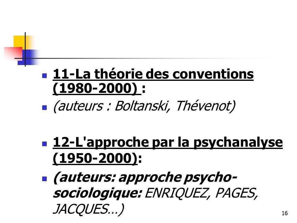 11-La théorie des conventions (1980-2000) :
