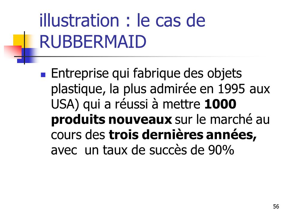 illustration : le cas de RUBBERMAID