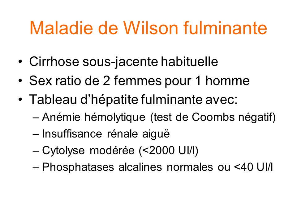 Maladie de Wilson fulminante