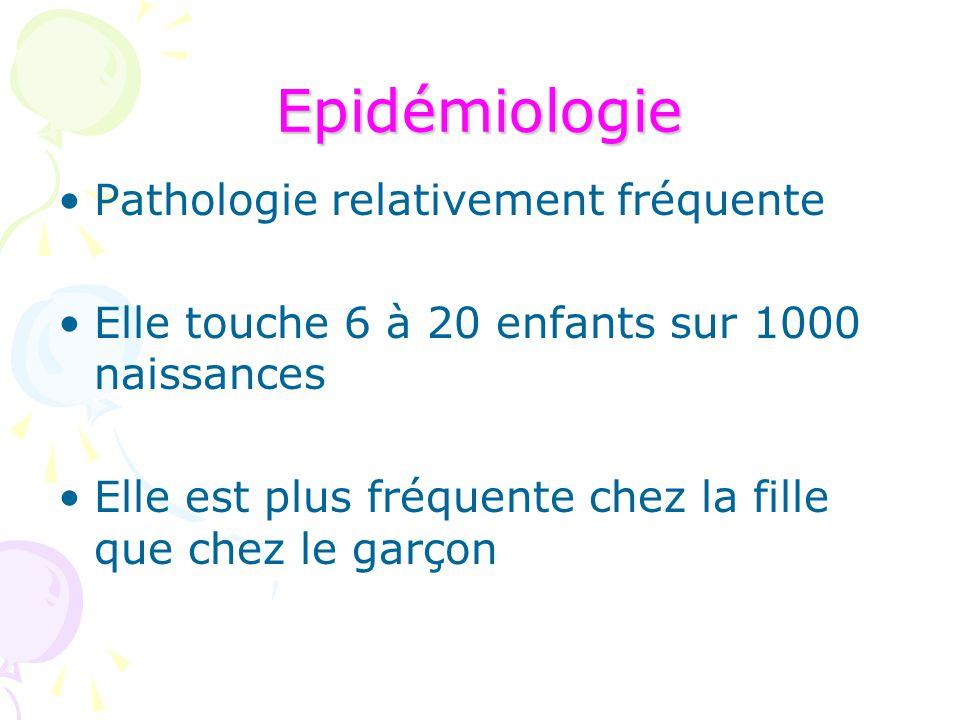 Epidémiologie Pathologie relativement fréquente