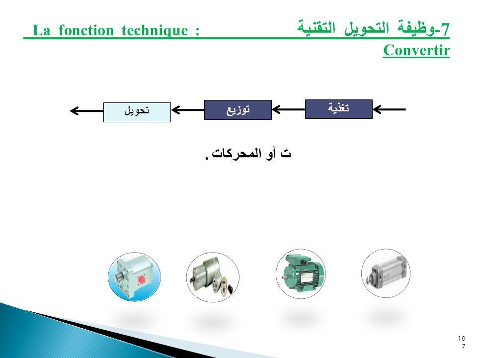 7-وظيفة التحويل التقنية La fonction technique : Convertir