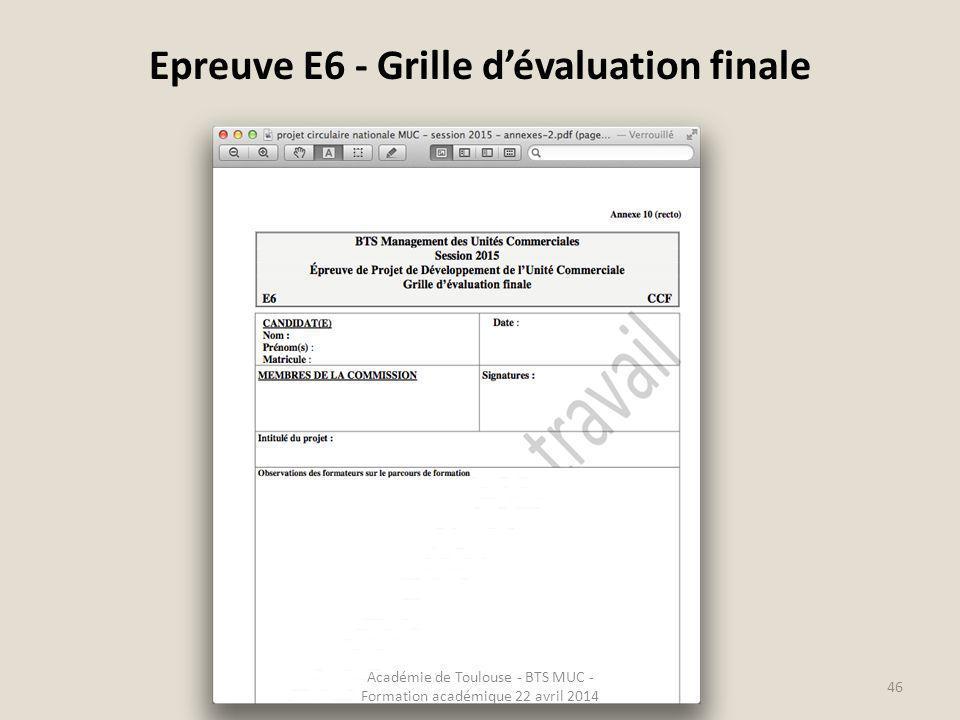 Epreuves e5 e6 forme ponctuelle ppt video online t l charger - Grille d evaluation formation ...
