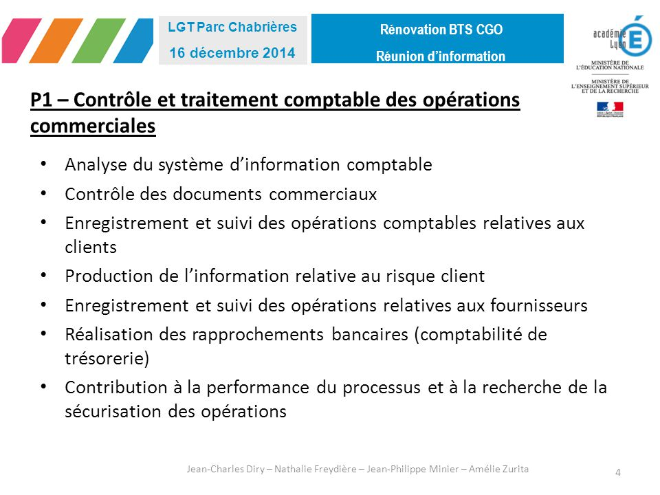 P1 – Contrôle et traitement comptable des opérations commerciales