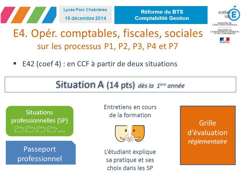 E4. Opér. comptables, fiscales, sociales