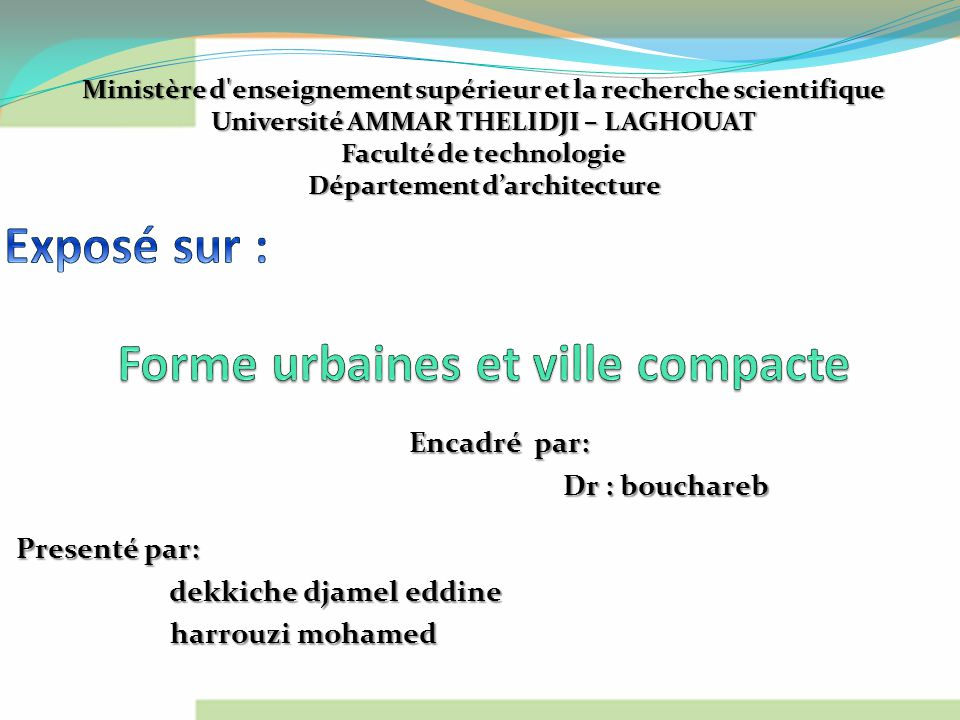 Forme urbaines et ville compacte ppt video online for Architecture urbaine definition