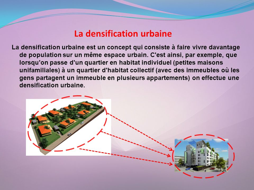 La densification urbaine