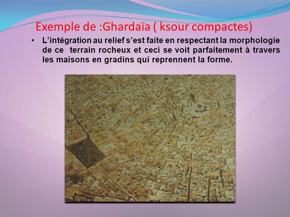 Exemple de :Ghardaïa ( ksour compactes)