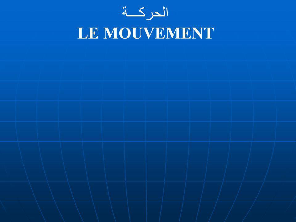 الحركـــة LE MOUVEMENT
