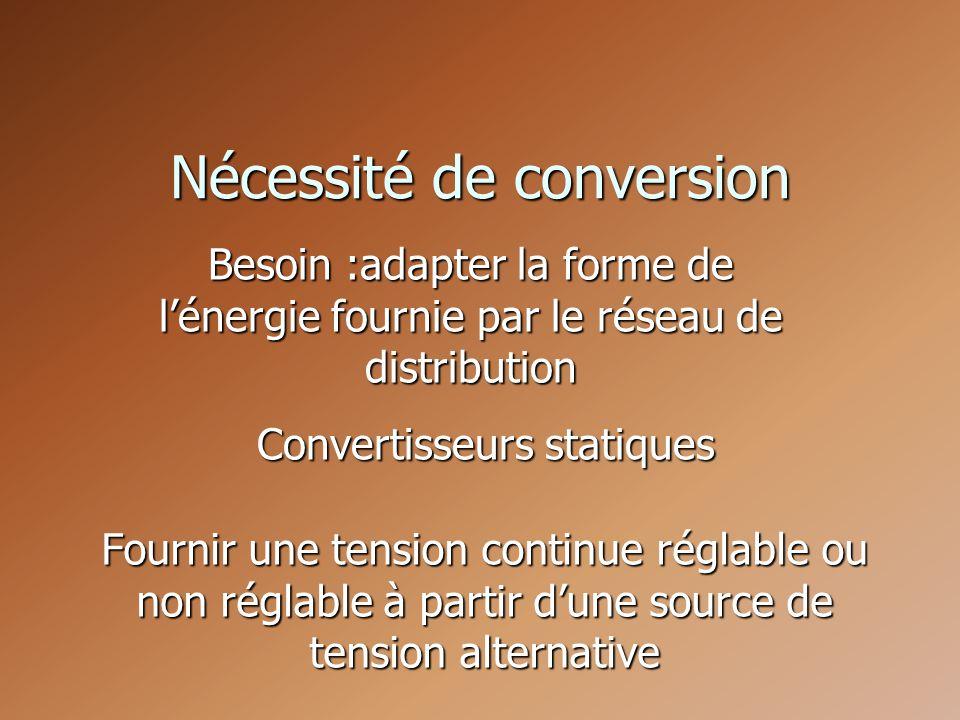 Nécessité de conversion