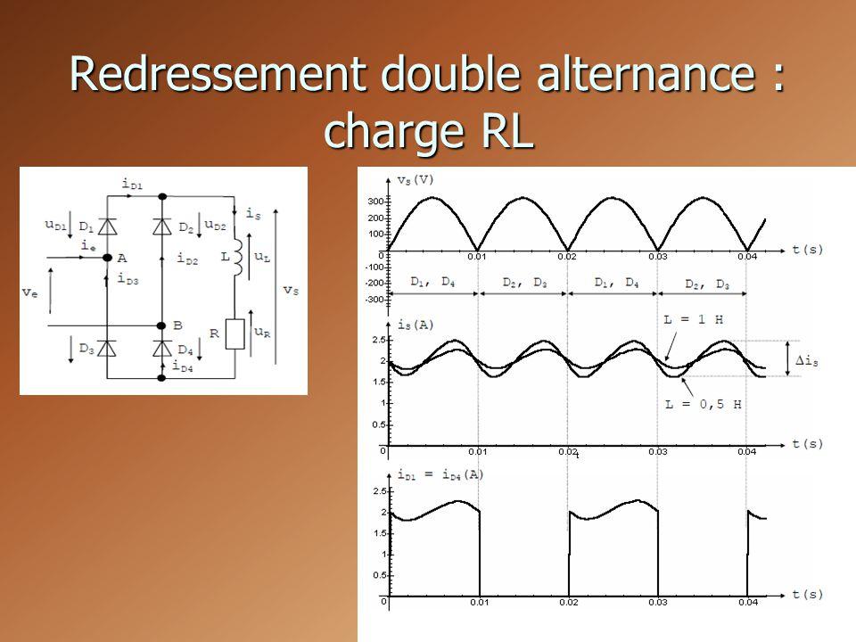 Redressement double alternance : charge RL