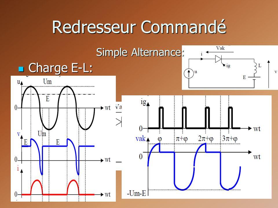 Redresseur Commandé Simple Alternance: Charge E-L: