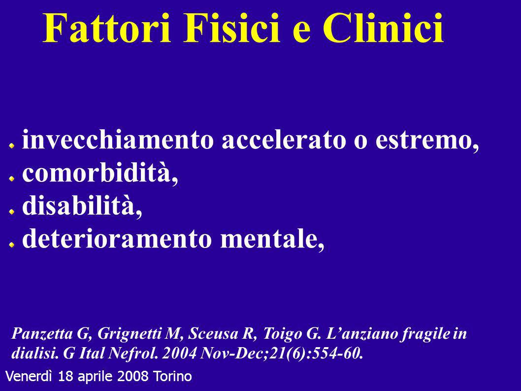 Fattori Fisici e Clinici