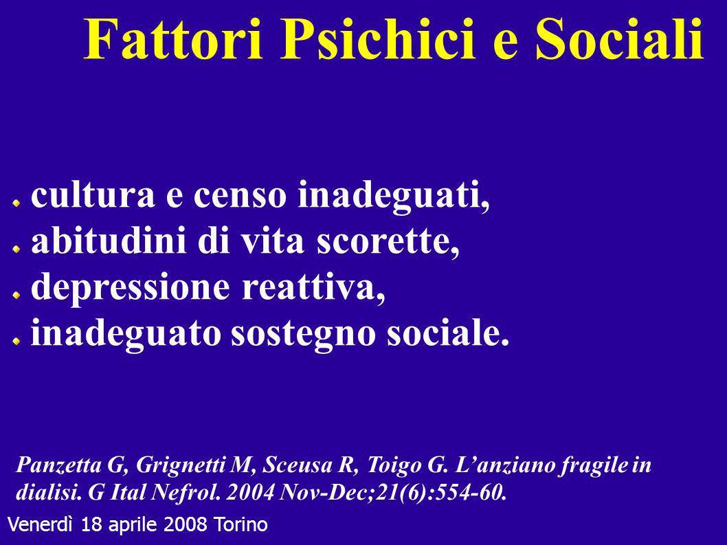 Fattori Psichici e Sociali