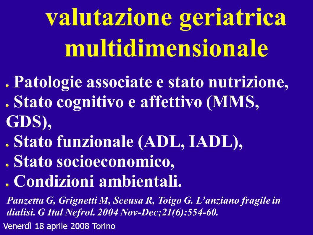 valutazione geriatrica