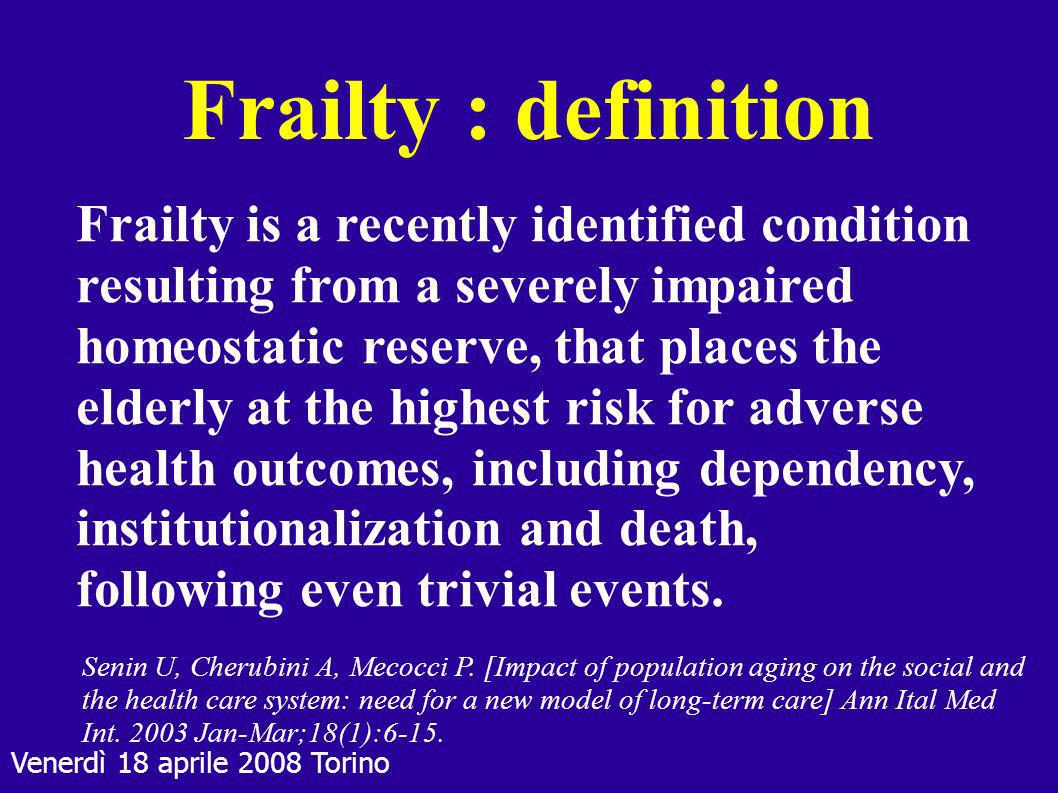 Frailty : definition