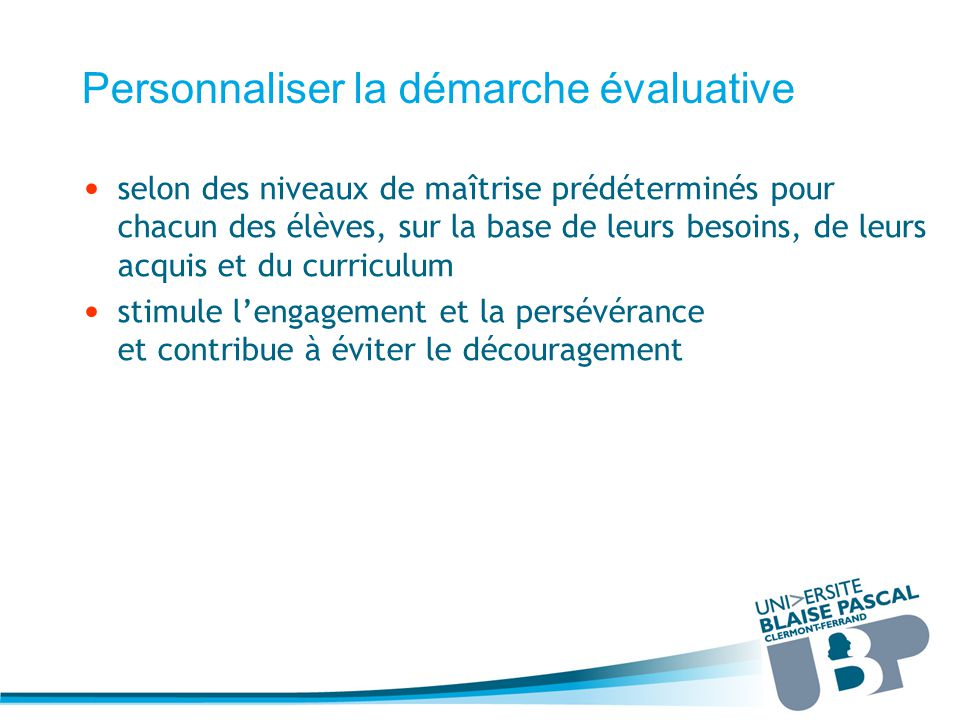 evaluation et apprentissage