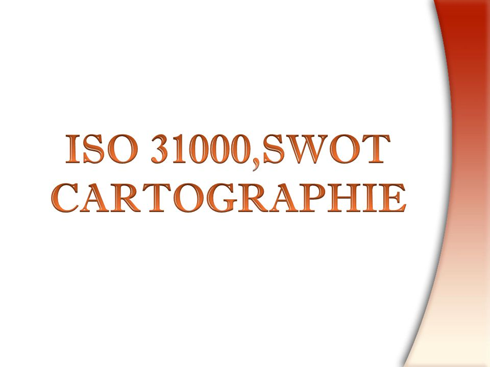 ISO 31000,SWOT CARTOGRAPHIE