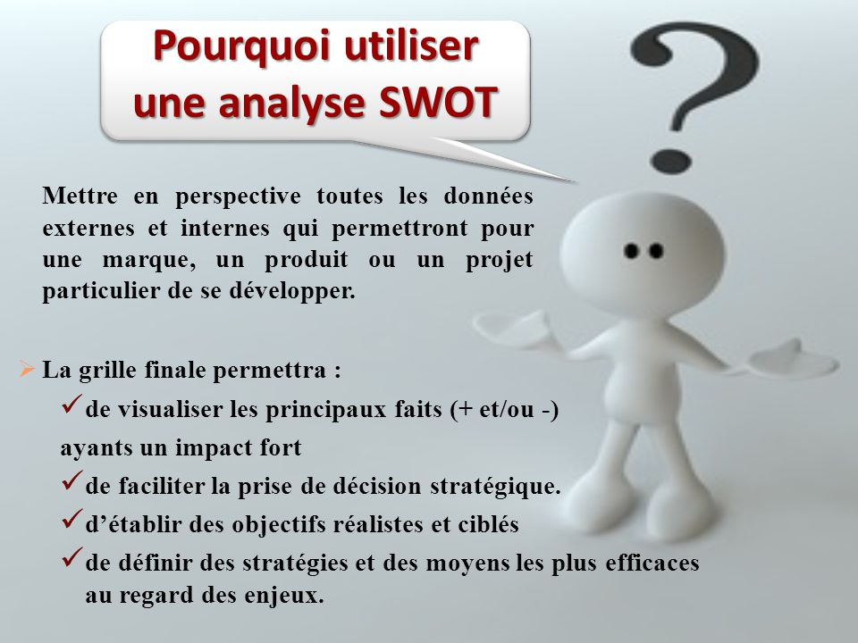 Pourquoi utiliser une analyse SWOT