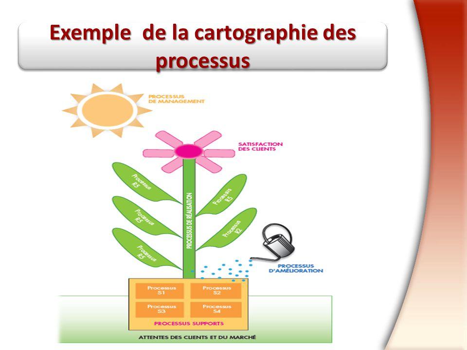 Exemple de la cartographie des processus