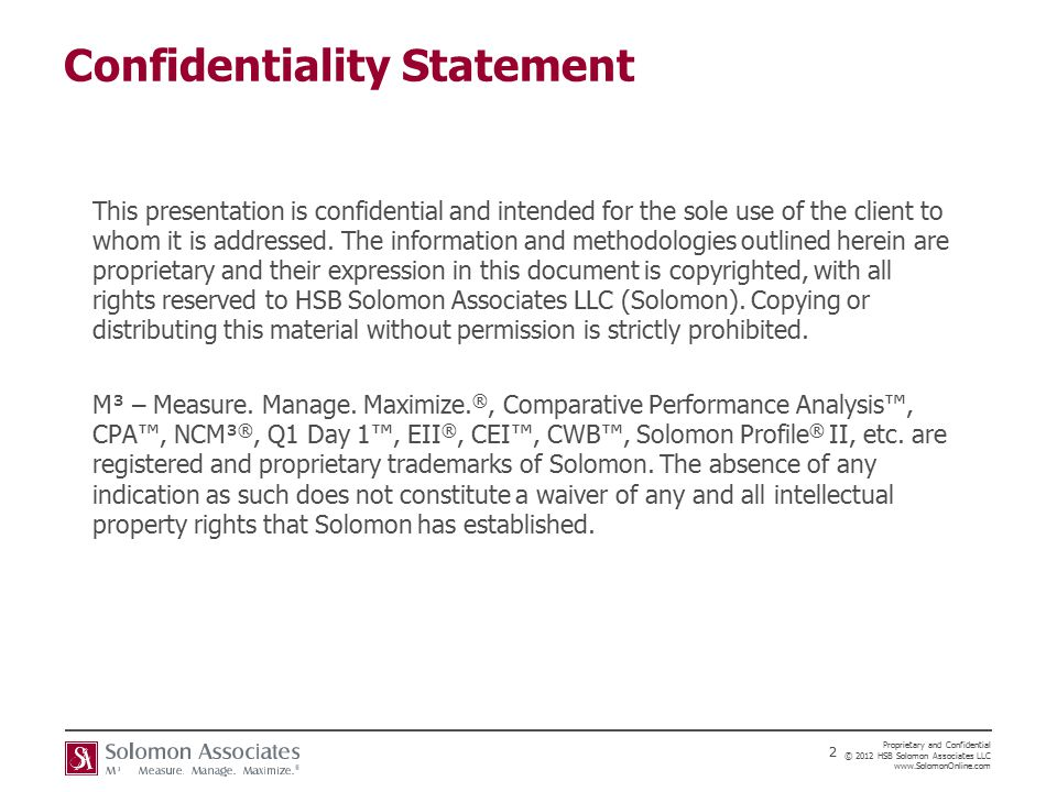 Confidential Statement Sample Notification Of