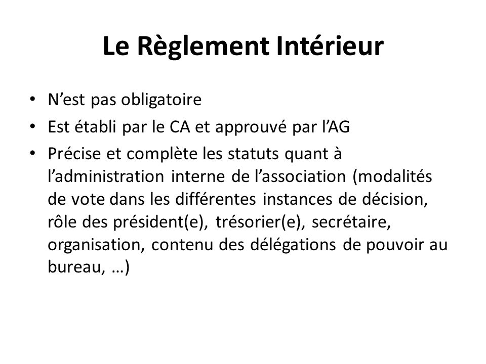 L association loi 1901 les statuts ppt video online t l charger - Organisation bureau de vote ...