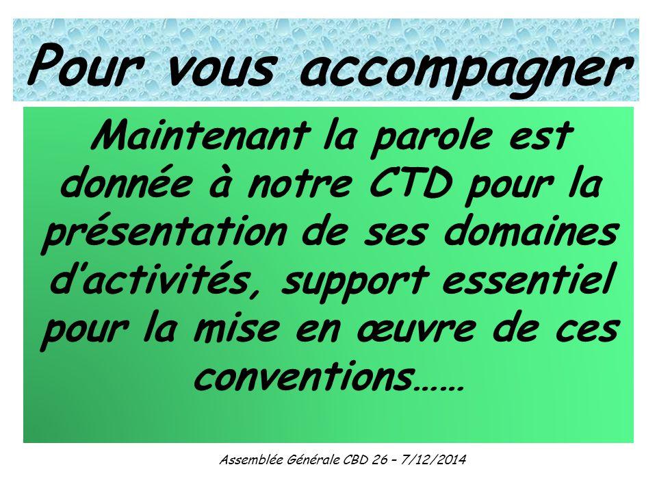 Assemblée Générale CBD 26 – 7/12/2014