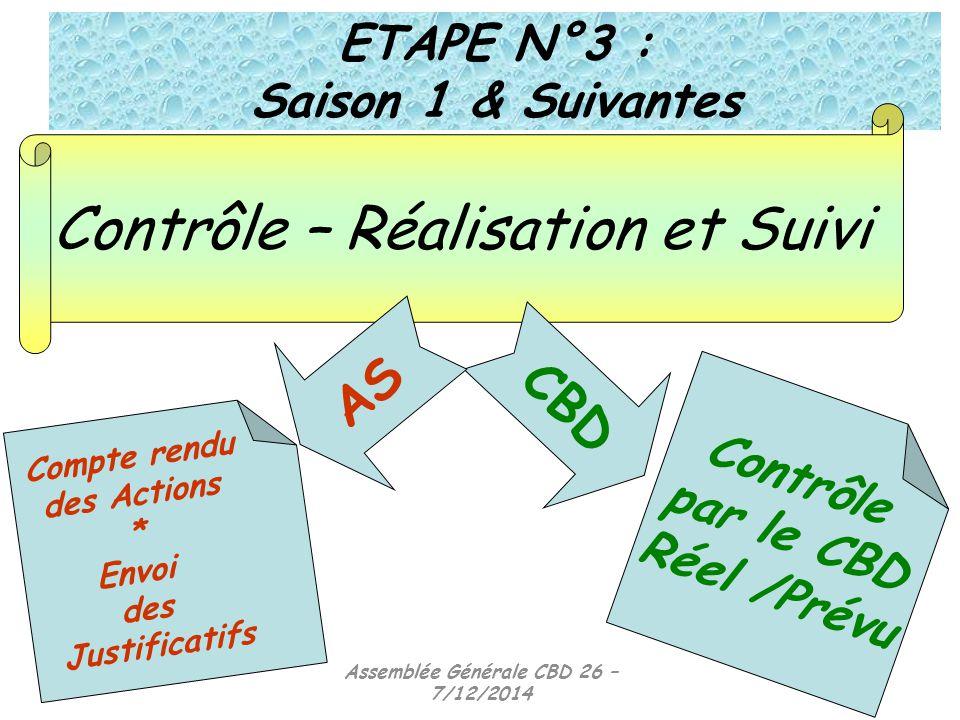 ETAPE N°3 : Saison 1 & Suivantes