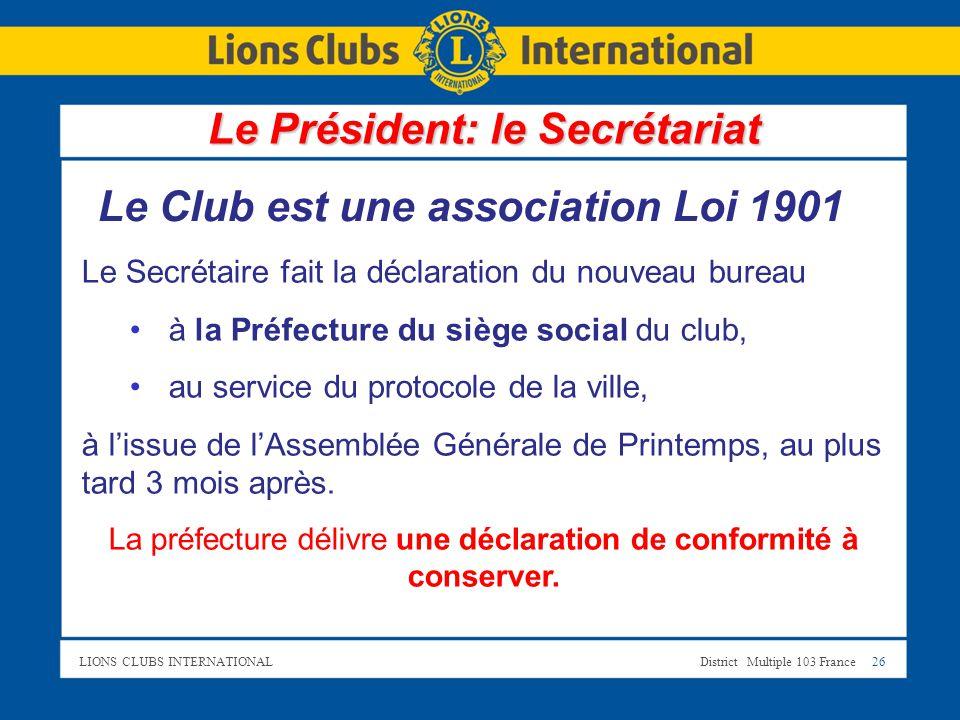 Bienvenue le pr sident bienvenue ppt t l charger - Modification bureau association loi 1901 ...